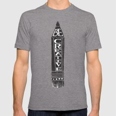 BE CREATIVE Mens Fitted Tee Tri-Grey MEDIUM