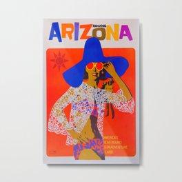 Amazing Arizona Vintage Travel Poster Metal Print
