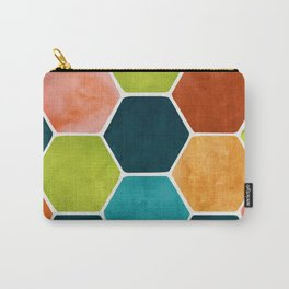 Colorful Terra Cotta - hexagon tile pattern Carry-All Pouch
