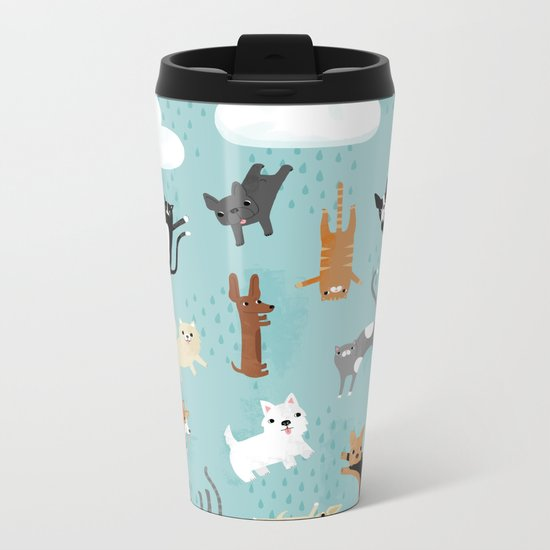 Raining Cats & Dogs Metal Travel Mug