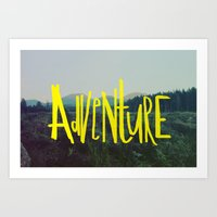 adventure Art Prints featuring Adventure by Leah Flores