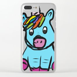 Cute Unicorn design for Girls Hand Drawn Graphic product Clear iPhone Case