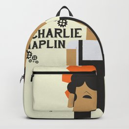 Charlie Chaplin, Modern Times, minimal movie poster Backpack