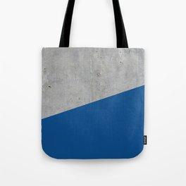 Concrete and Lapis Blue Color Tote Bag
