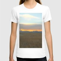 industrial T-shirts featuring Industrial sunset. by Mikhail Zhirnov