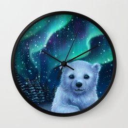 Polar Bear Wall Clock