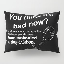 In 20 Years Our Country Homeschooled by Day Drinkers Sarcasm Humor 2020 Sucks Pillow Sham