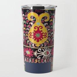 Lakai Tribal Nomad Antique Uzbekistan Horse Cover Print Travel Mug