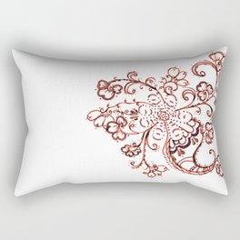 24. Elegant Henna Flower  in Pattern World  Rectangular Pillow