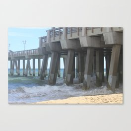 High Tide Pier Canvas Print