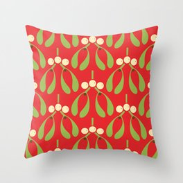 Anytime Is Mistletoe Time! Throw Pillow