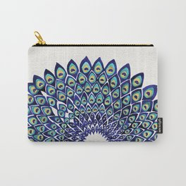 Peacock Mandala – Navy & Gold Carry-All Pouch