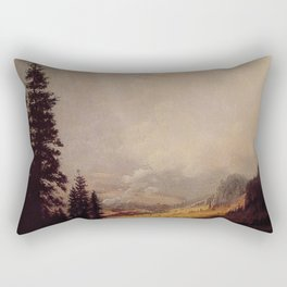 The Matterhorn By Albert Bierstadt | Reproduction Painting Rectangular Pillow