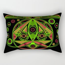 The third eye (Black) Rectangular Pillow