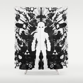 Ink Blot Link Kleptomania Geek Disorders Series Shower Curtain