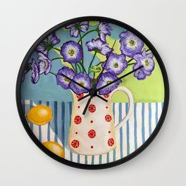 Flowers in a Vase 1 Wall Clock