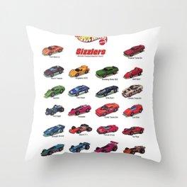 Redline Era 1960's Hot Wheels Sizzlers Advertising Vintage Toy Car Poster Throw Pillow