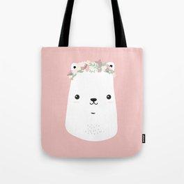 Flower bear Tote Bag