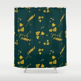 Golden epoch Shower Curtain