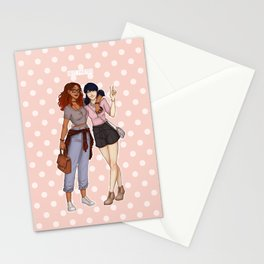 Marinette and Alya Stationery Cards