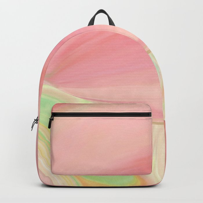 Complicated Pink to Peach to Green Backpack