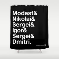 russian Shower Curtains featuring Russian Composers by Fortissimo6