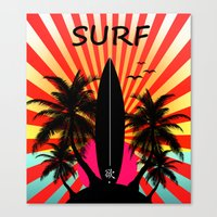 surf Canvas Prints featuring Surf by mark ashkenazi