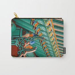 Hwaeomsa Temple Decorative Roof Carry-All Pouch