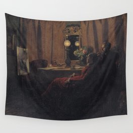 Anna Ancher - Appraising the Day's Work Wall Tapestry