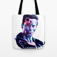 arnold Tote Bags featuring Arnold Schwarzenegger: BAD ACTORS by mergedvisible