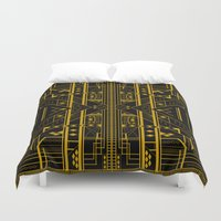 da vinci Duvet Covers featuring Da Vinci Code by CYRUSCOPE