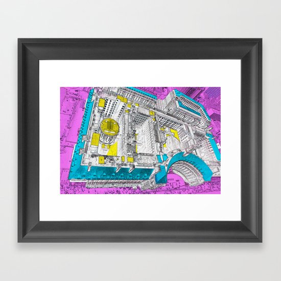 view from the eye Framed Art Print