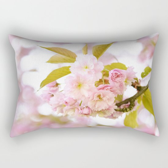 Sakura - Cherryblossom - Cherry blossom - Pink flowers on #Society6 Rectangular Pillow