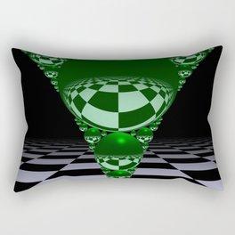 Apollonian gasket - green Rectangular Pillow