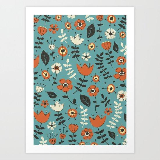 Whimsical Flowers II Art Print