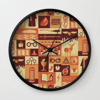risa rodil Wall Clocks featuring Accio Items by Risa Rodil