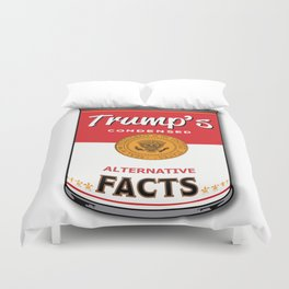 Trump's Canned Goods Duvet Cover