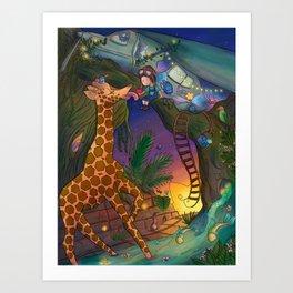 The Lone Explorer Art Print