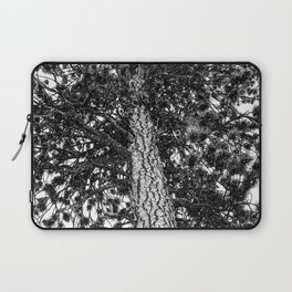 Tree Top // Snowy Winter Alpine Branches Trunk Nature Landscape Photography Black and White Decor Laptop Sleeve