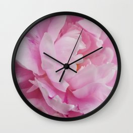 Floral Fun - Peony in pink 4 soft and billowy Wall Clock