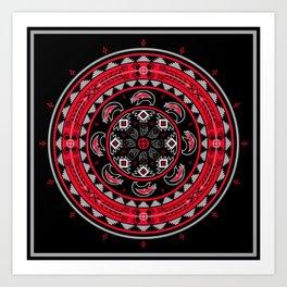 Bear Spirit (Red) Art Print