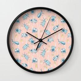 Spring bugs Wall Clock