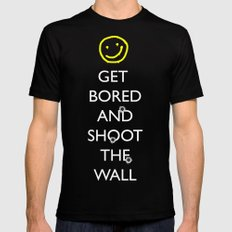 Smiley target Black SMALL Mens Fitted Tee