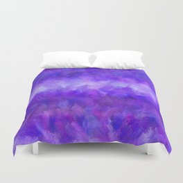 Dappled Blue Violet Abstract Duvet Cover