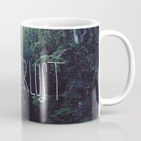 marina and the diamonds Mugs featuring Wanderlust: Rainier Creek by Leah Flores