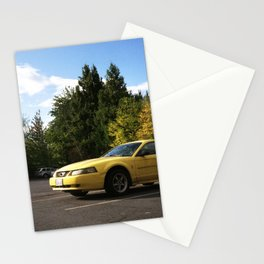 mustang outside goodwill Stationery Cards