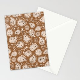 Hedgehog Paisley_Moka Stationery Cards