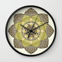 Hena Flower Wall Clock