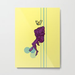 Purple Pain Metal Print
