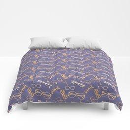 Orange Glasses Comforters